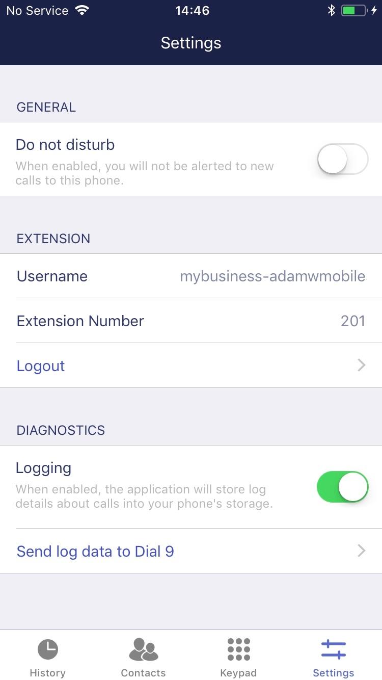 Dial 9 Phone - settings